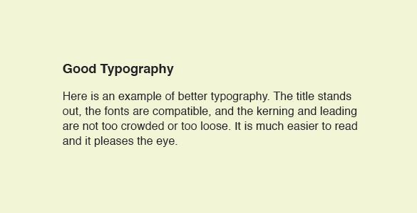 Good Typography Example